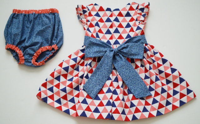 custom baby girl dress with bloomers