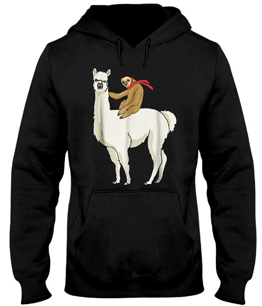 Sloth Riding Llama Hoodie, Sloth Riding Llama Sweatshirt, Sloth Riding Llama Sweater, Sloth Riding Llama TShirt