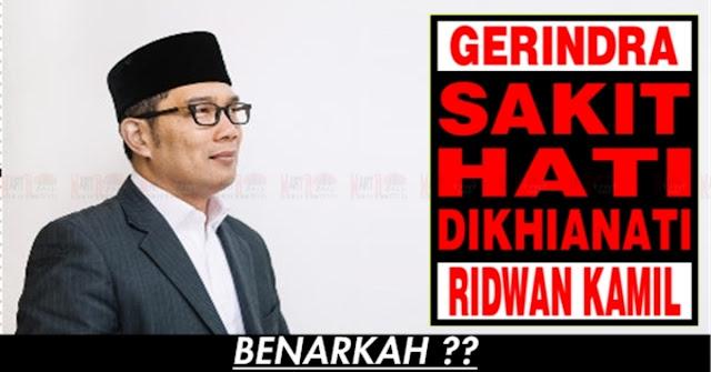 Benarkah Gerindra Sakit Hati Dengan Ridwan Kamil ?? Ini Jawaban Mereka
