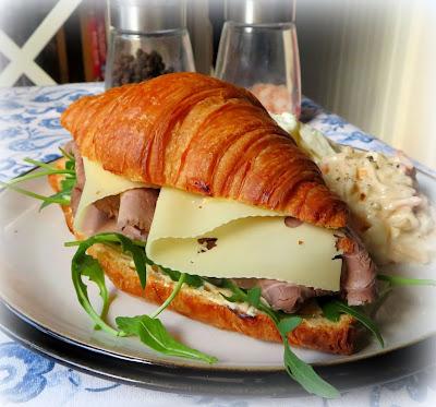 Roast Beef, Horseradish & Rocket Sandwiches