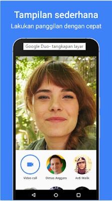 Tampilan sederhana google duo
