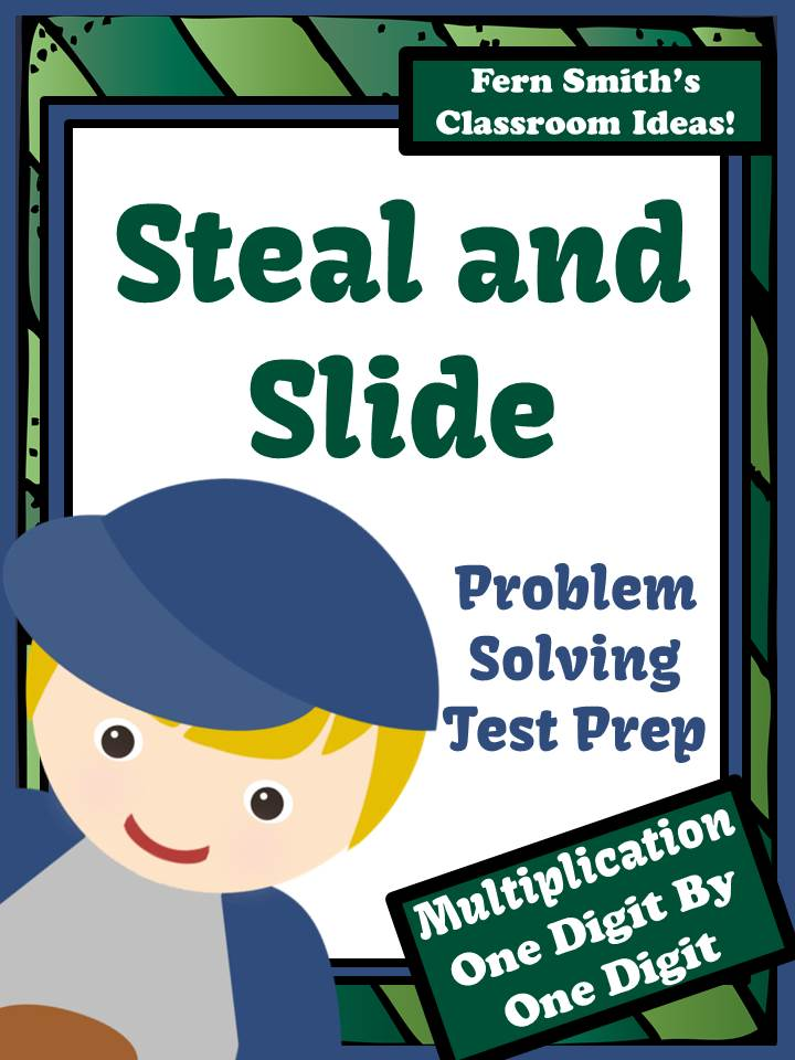 Fern Smith's Test Prep Baseball's Steal and Slide Method - One By One Digit Multiplication