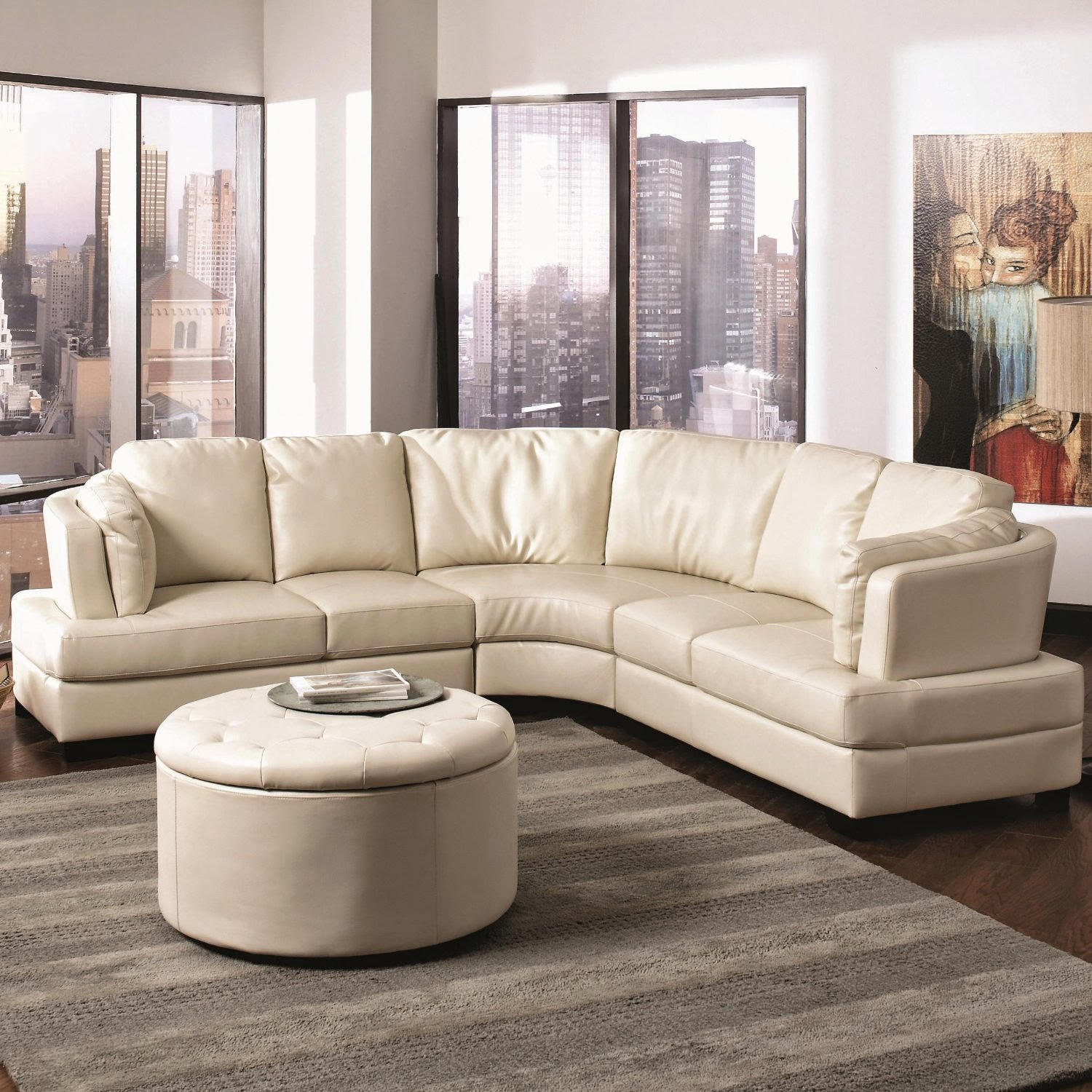 Curved sofa curved sectional sofa for Sectional couch
