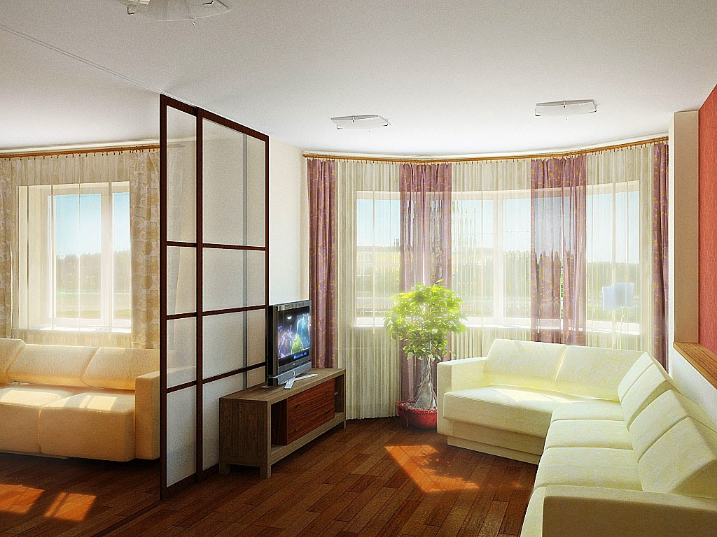Modern interior design 2014 house living room pool - Living room sliding doors interior ...