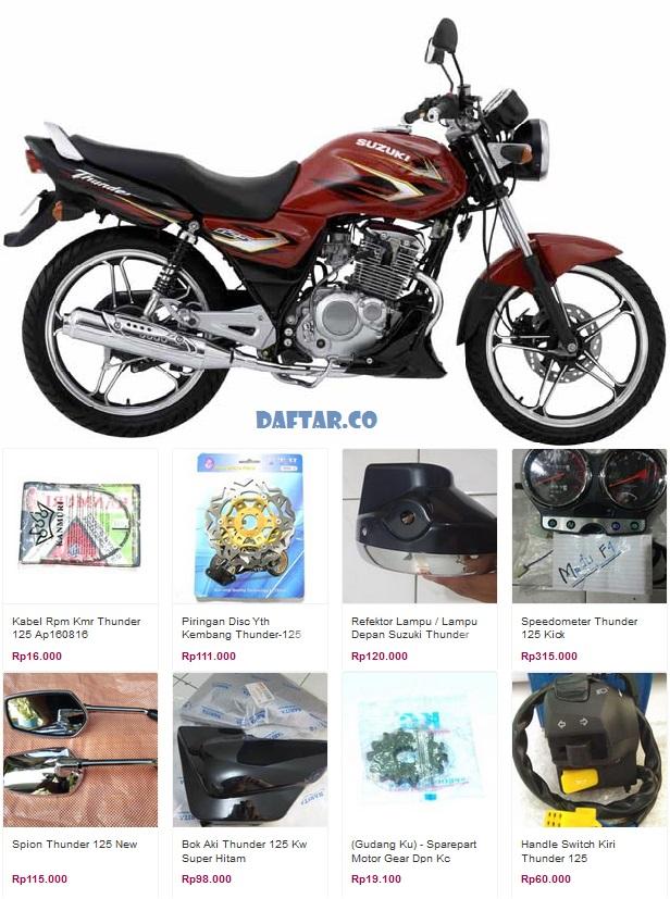 Harga Spare Part Suzuki Thunder 125