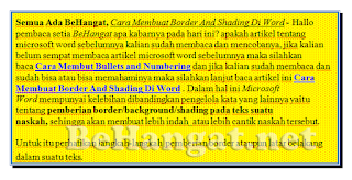 Cara Membuat Border And Shading Di Word - BeHangat.net