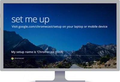 Chromecast Setup Home Screen