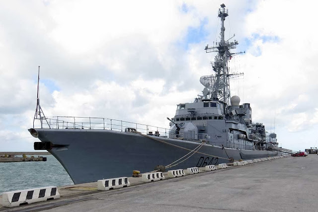Anti-submarine frigate Montcalm (D642), port of Livorno