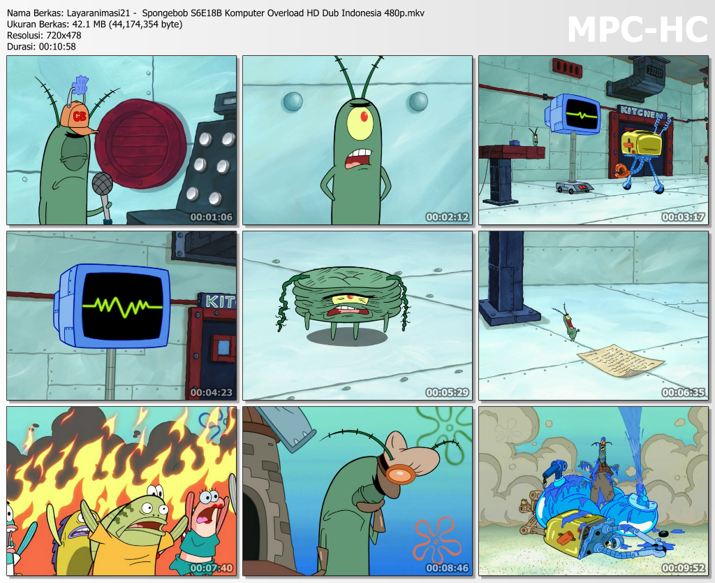 Spongebob Season 6 Episode 18b Komputer Overload Hd 480p Dub