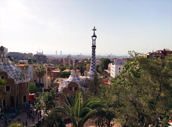 Photo du parc Guell à Barcelone