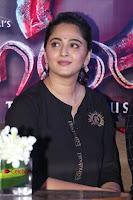 Actress Anushka Shetty Stills in Black Gurthi at Baahubali 2 Press Meet  0006.jpg
