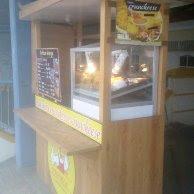 desain booth makanan, harga booth makanan, harga booth kayu,