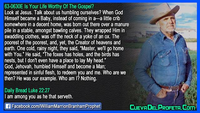 God Jehovah humbled Himself - William Branham Quotes