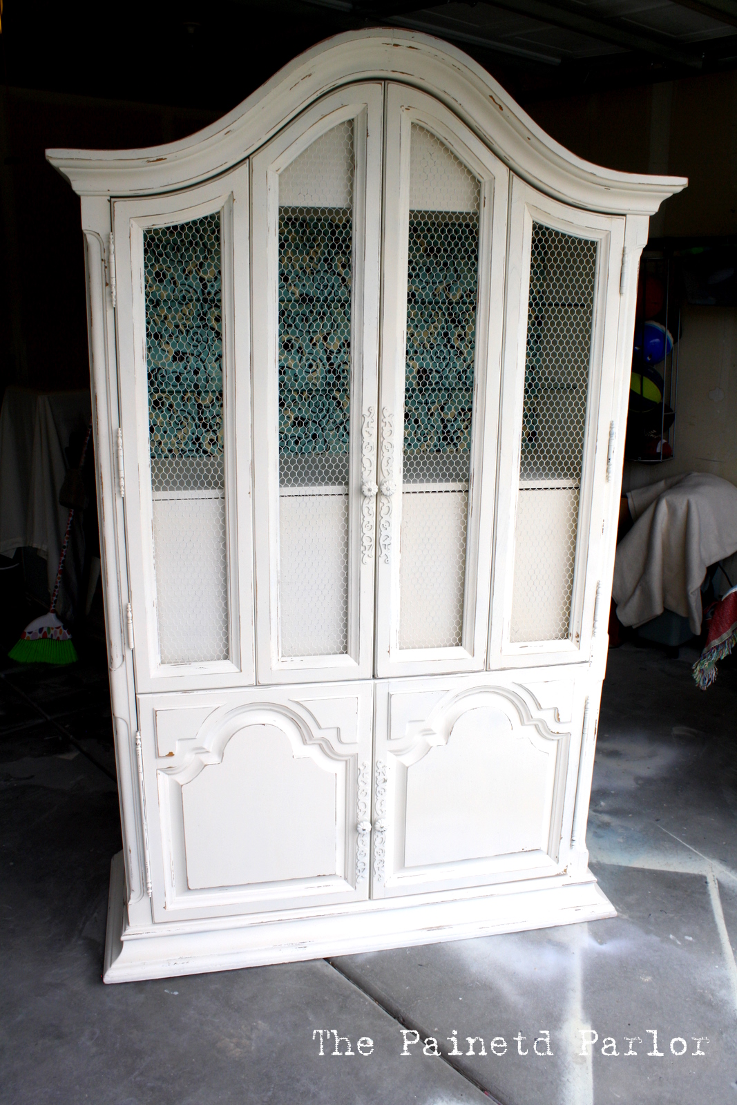 The Painted Parlor: {Heirloom White Armoire}