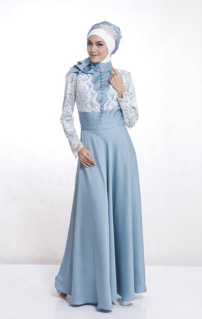 baju muslim remaja bahan satin untuk pesta