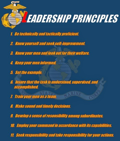 Lead The Marine Way The Marine Corps Leadership Principles