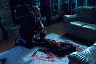 Peter Stormare finds bloody remains from Eli Roth's Clown