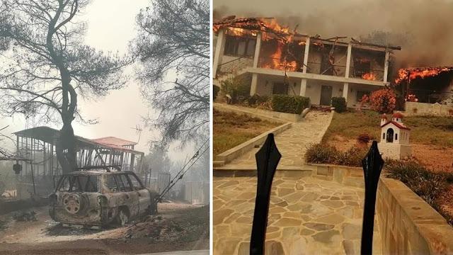Καίγονται σπίτια στην Κινέτα - ΒΙΝΤΕΟ