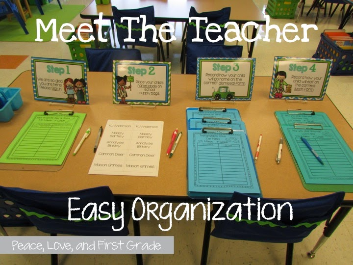 Back to school night and Open House are coming! Meet the Teacher forms, signs, and editable templates make organization easy.