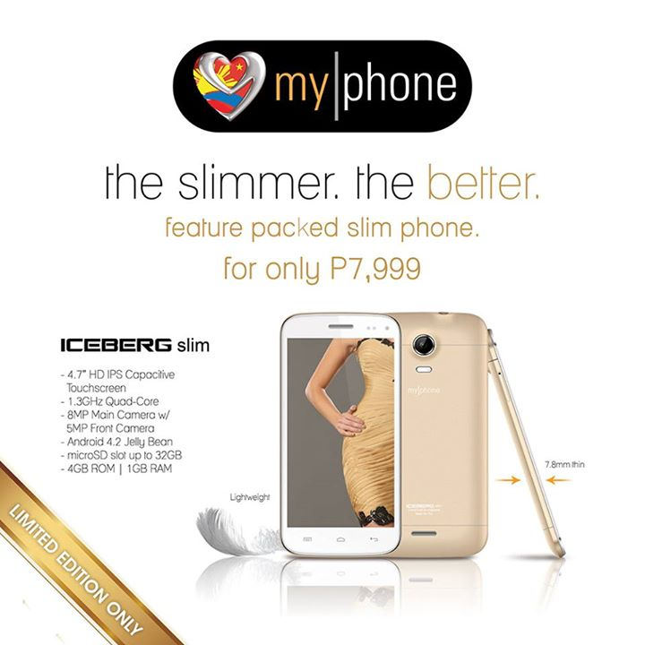 MyPhone ICEBERG Slim: Specs, Price and Availability