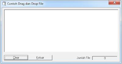 Contoh Menciptakan Drag Dan Drop File Ke Listbox
