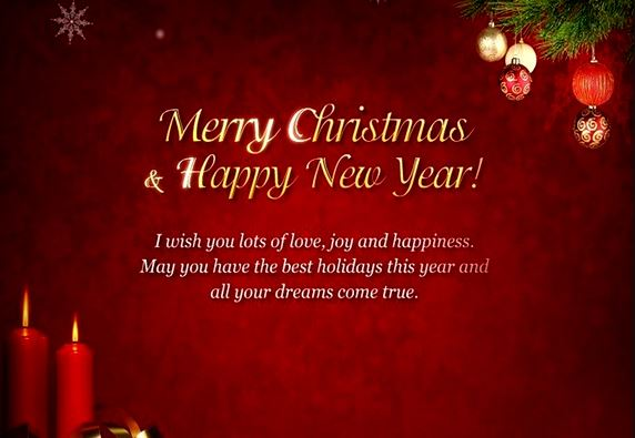 Quotes on Merry Christmas and Happy New Year 2018