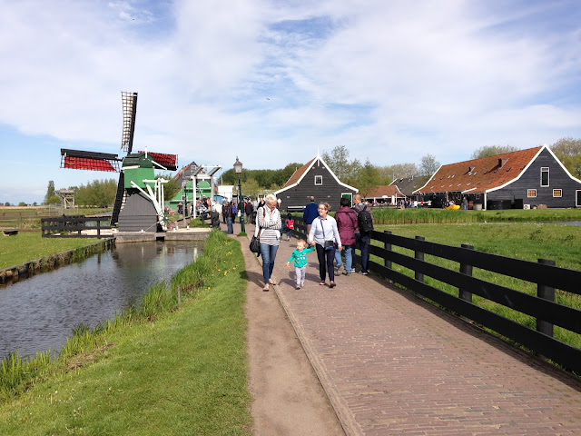 Windmills at the Zaanse Schans, Holland. For more tips and tricks to visit with babies and young children follow @awayweego