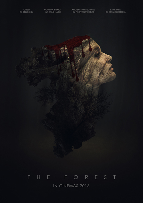 Create The Forest Horror Movie Poster Photoshop Tutorial