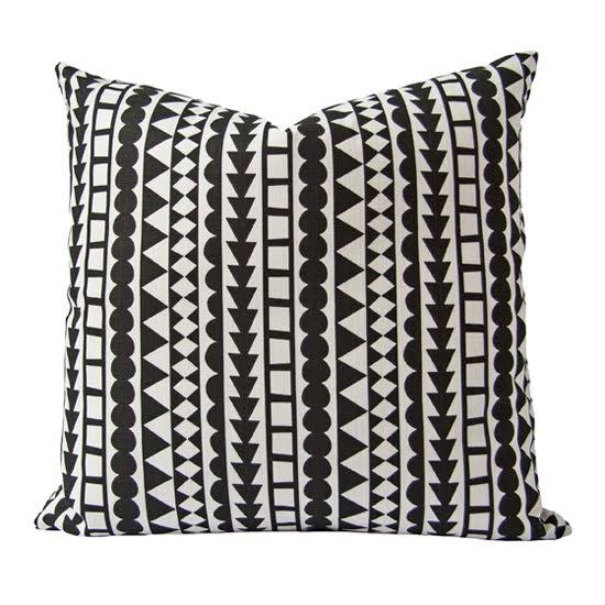 Safari Fusion blog   Colour crush / black and white   Tribal Cushion (black)   Image © Safari Fusion