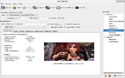 HandBrake - Convertisseur de DVD sur Windows