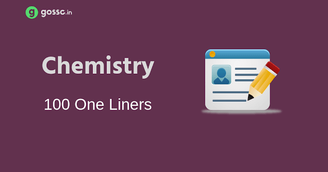 100 Chemistry One Liners