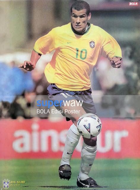 Big Poster Rivaldo Brazil 2000