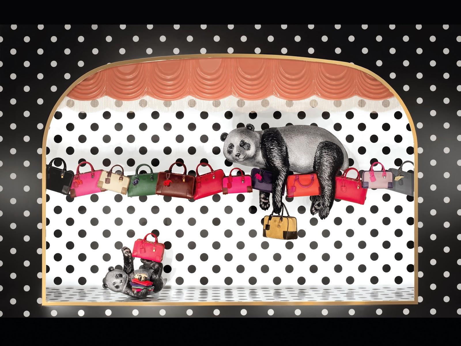 Of Pandas and Elephants: Loewe's Brilliant Windows for Christmas!