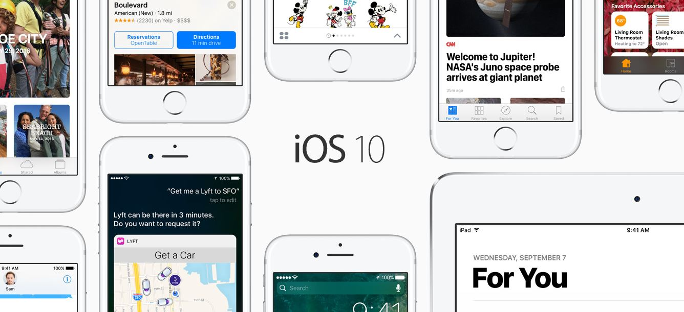 iOS 10 Apple's biggest iOS release ever now available