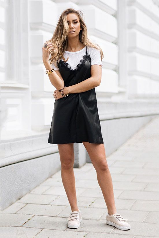 slip dress trend street style