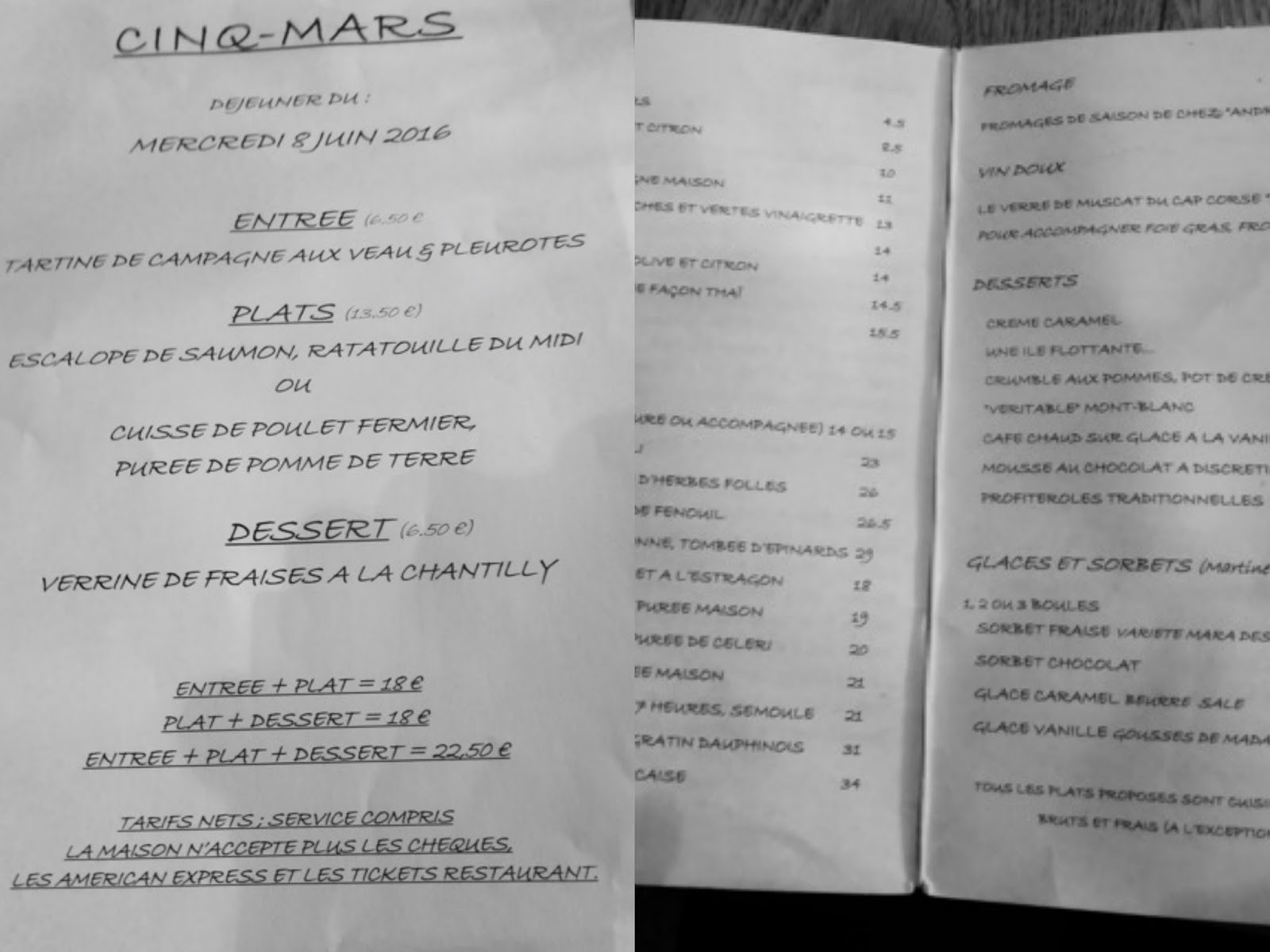 Paris missives cinq mars restaurant restaurant review for H kitchen paris menu