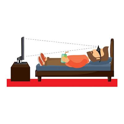 dibujo de hombre con gafas prisma en una cama