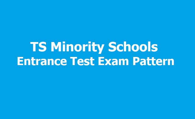 TMRS Entrance Test Exam Pattern