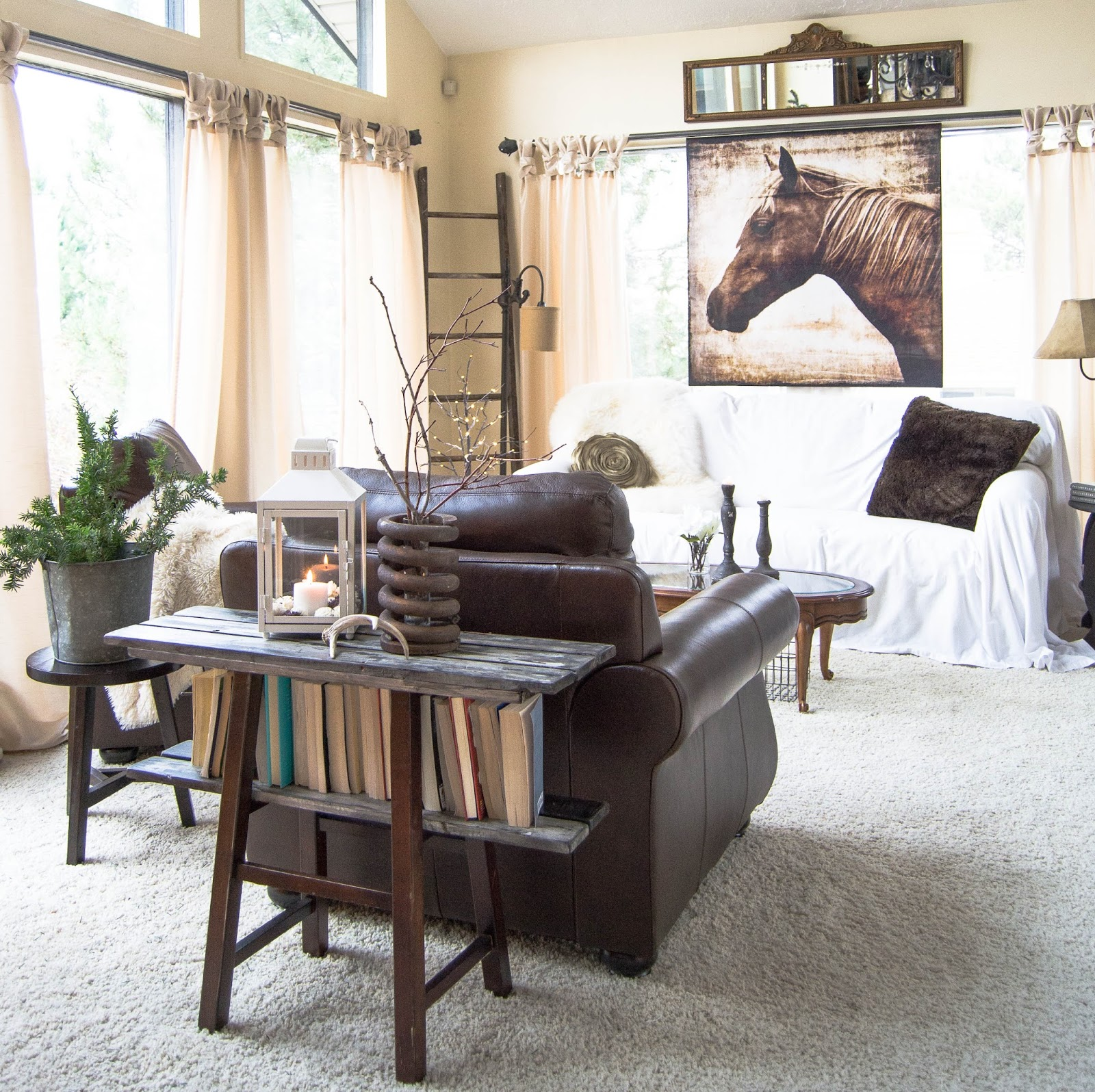 Down to Earth Style Drop Cloth Slipcover to the Rescue