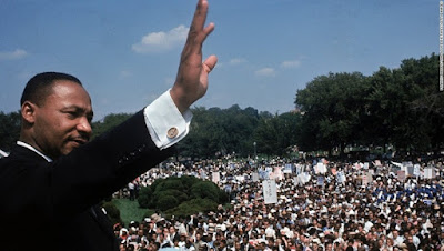 Martin Luther King, antes de pronunciar su célebre discurso.
