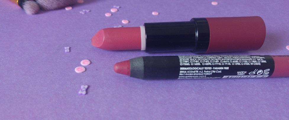 Golden Rose & Cookie's Makeup : Matte Lipstick Crayon 08 et Velvet Matte Lipstick 14