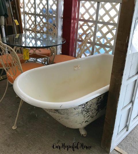 vintage claw foot tub