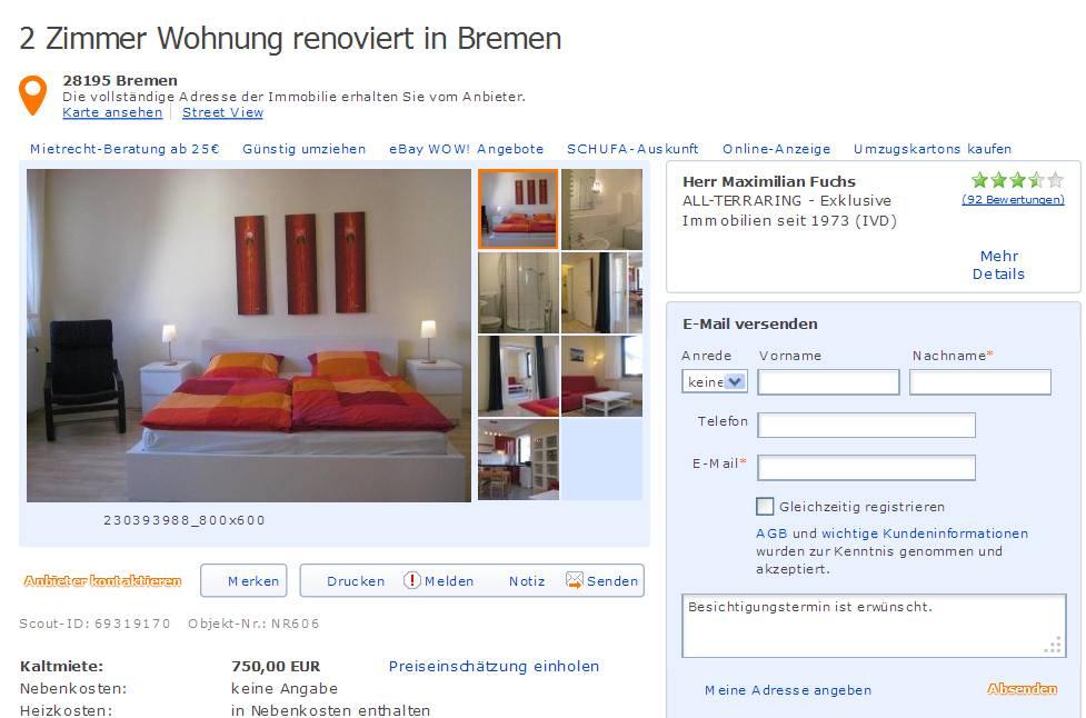 Bremen single wohnung