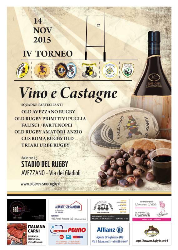 Locandina - Torneo vino e castagne, Avezzano