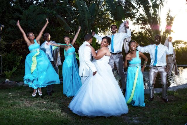 mariage-Guadeloupe-Basse Terre-les mariés et leur cortège