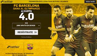 betfair supercuota 4 victoria de Barcelona a Olympiakos champions 31 octubre