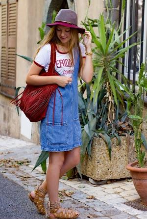 Robe en Jeans et Sandales à lacets