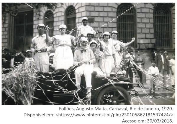 Foliões, Augusto Malta. Carnaval, Rio de Janeiro, 1920