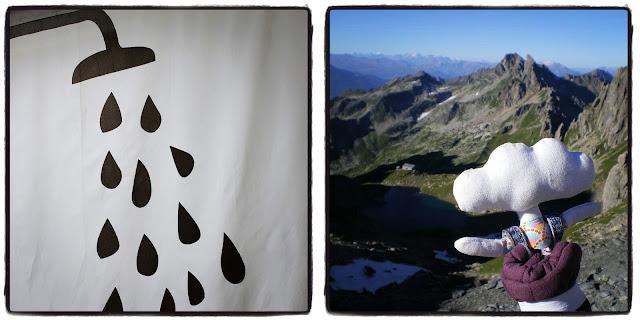 sous la douche et en montagne
