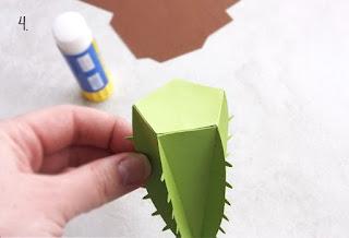 3d paper cactus tutorial
